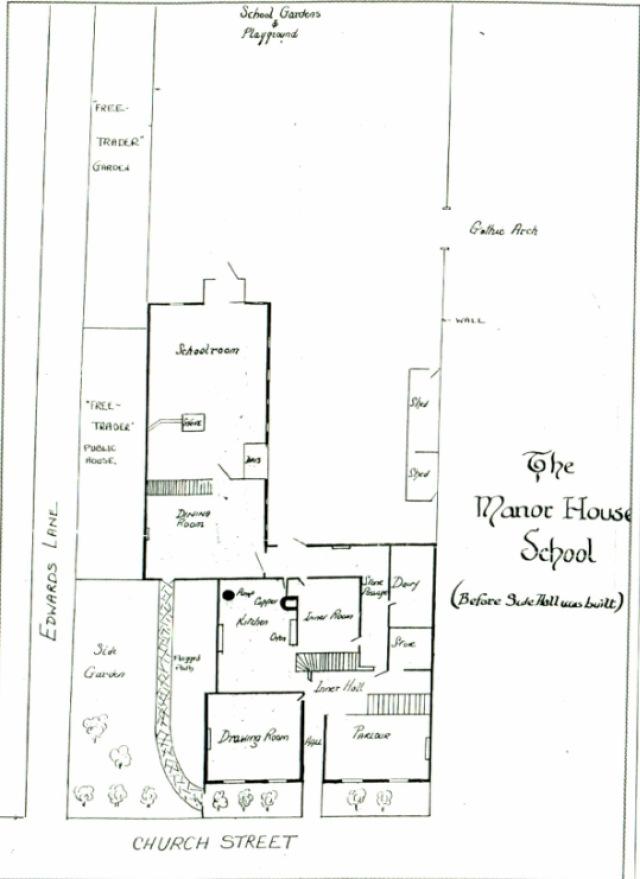 CS_Plan of Manor House School on (176-182) Church Street,